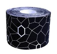 Кинезиологический тейп THERA-BAND, черный, белый принт, 12927