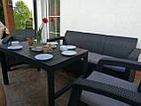 Комплект садових меблів зі штучного ротангу Corfu Set Lyon Max графіт (Keter), фото 10