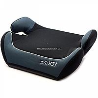 Бустер детский автомобильный Joy, от 3,5 до 12 лет, 15-36 кг, серо-черный (43616), фото 1