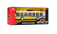 Троллейбус AS-2438(Yellow) АвтоСвіт, металл, инер-й, 17см