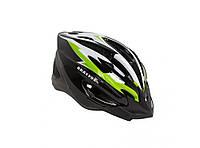 Шлем велосипедный Bravvos  черно-бело-салатовый (L, 58-61 см), фото 1