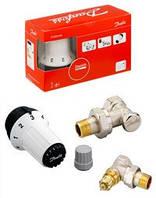 """Комплект радиаторных терморегуляторов Danfoss 1/2"""" угловой, RA-FN+RAS-C+RLV-S. Арт. 013G5253"""