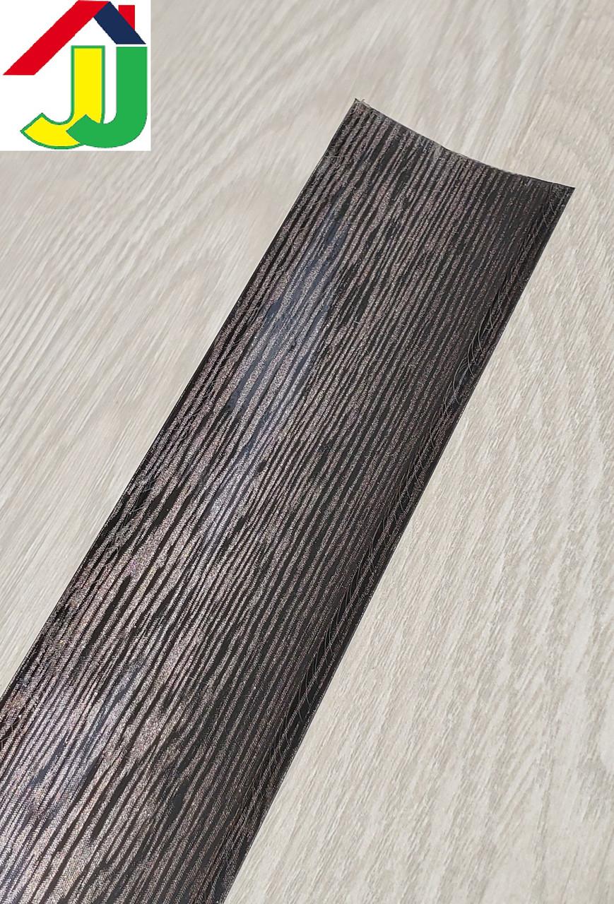 Плинтус для столешницы Идеал 302 Венге черный с мягкими краями, бортик для столешницы IDEAL на кухню