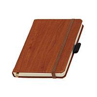 Записная книжка Гардена А6 Ivory Line кремовый блок в линейку, кожзам, светло-коричневая