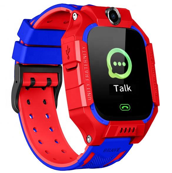 Смарт-годинник дитячі з GPS Brave Q19, червоно-блакитні