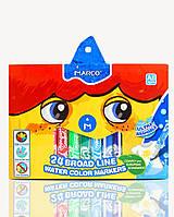 Фломастеры цветные Super Washable «Jumbo» «MARCO» BRIGHT & SMOOTH 24 цвета