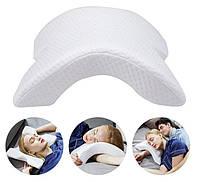 Подушка ТОННЕЛЬ для шеи из пены с эффектом памяти   Ортопедическая изогнутая подушка под шею ОПТ