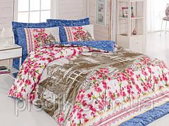 Двуспальное постельное белье 200х220 Cotton box Ранфорс SUZI PEMBE