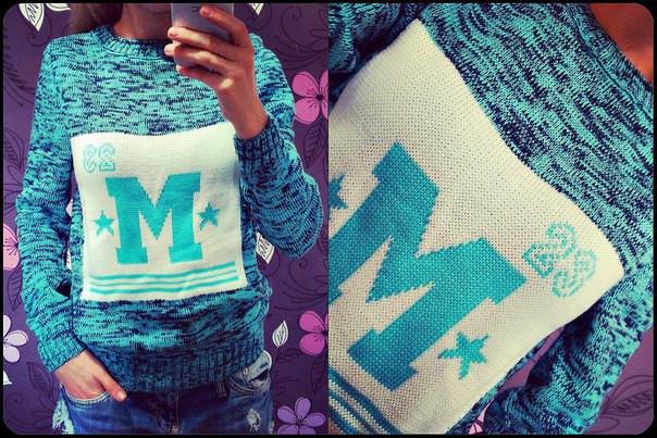"""Вязаный свитер """"М"""" (разные расцветки)"""
