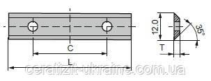 Ніж змінний тв/спл HW  40,0х12,0х1,5 із покриттям CeraShield Ceratizit (Люксембург)