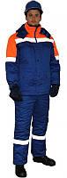 Костюм рабочий зимний куртка, спецодежда зимняя со светоотражающей полосой, костюм рабочий