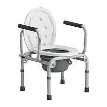 Стул туалет с откидными подлокотниками для инвалидов и больных людей DY02800