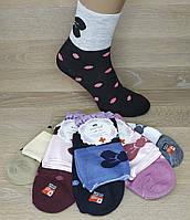 """Шкарпетки жіночі """"КОРОНА Бавовна"""". Медична гумка. Бантики, горошки. (Роздріб). № В2312."""
