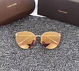 Женские солнцезащитные очки в стиле Tom Ford (7297) rose, фото 2