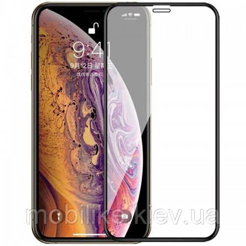 Скло (ЗАХИСНЕ) iPhone XS Max 5D BLACK