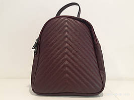 Жіноча шкіряна сумка - рюкзак 2746 бордо