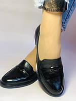 Molka. Жіночі туфлі-лофери.Чорні з натуральної шкіри Розмір 38.40 Магазин Vellena, фото 5
