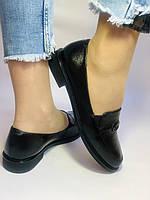 Molka. Жіночі туфлі-лофери.Чорні з натуральної шкіри Розмір 38.40 Магазин Vellena, фото 4
