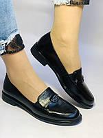 Molka. Жіночі туфлі-лофери.Чорні з натуральної шкіри Розмір 38.40 Магазин Vellena, фото 2