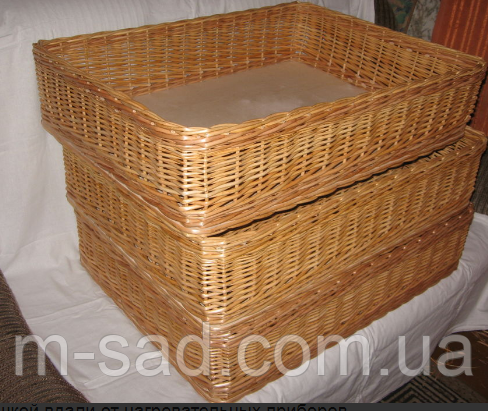 Лотки плетеные корзины 45x45х10