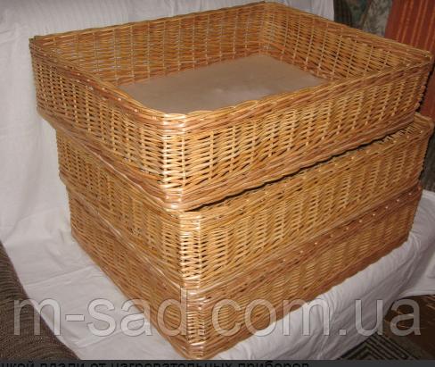 Лотки плетеные корзины 45x45х10, фото 2