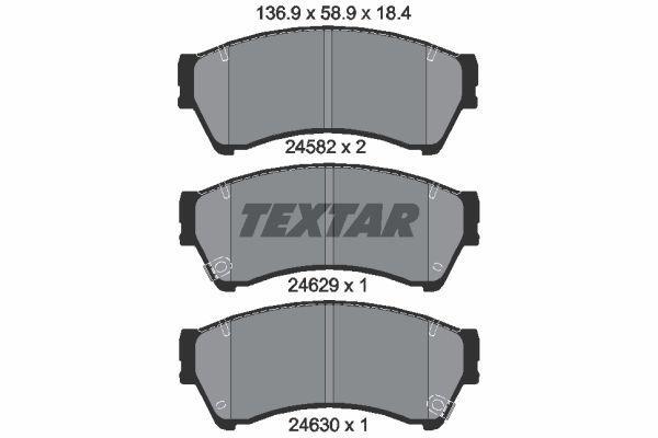 Тормозные колодки дисковые TEXTAR