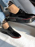 Стильные женские туфли.Оксфорды.Натуральная лакированная кожа.Невысокий каблук.  35. 37.39, фото 6