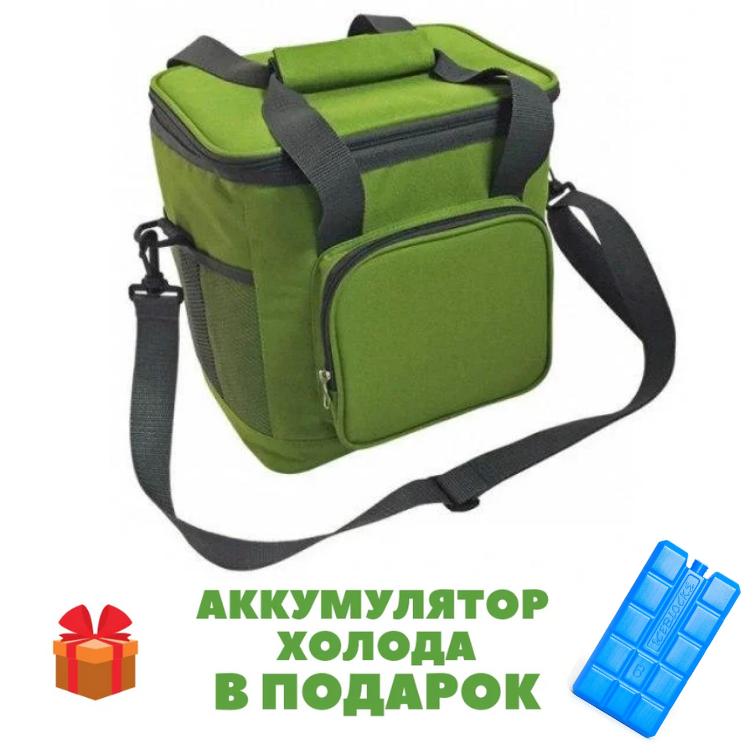 Термосумка 20л 33x24x27см сумка-холодильник Time Eco 320S зеленая 🏕️