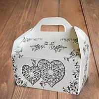Коробочка для свадебного каравая с сердцами (арт. KS-08)