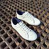 ПОСЛЕДНИЙ РАЗМЕР 44 Белые кожаные кеды кроссовки деми перфорация демисезон мужские летние экокожа, фото 4