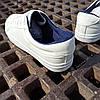 ПОСЛЕДНИЙ РАЗМЕР 44 Белые кожаные кеды кроссовки деми перфорация демисезон мужские летние экокожа, фото 2