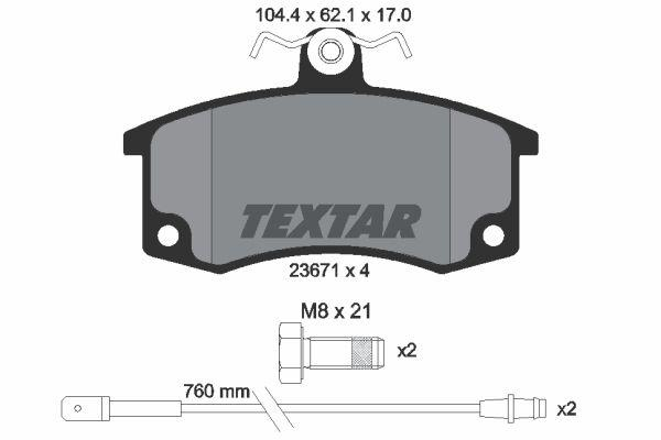 Тормозные колодки передние LADA 2110/21099 TEXTAR
