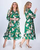 Сукня жіноча з квітами у великому розмірі