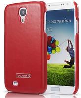 Чехол кожаный i-Carer до Samsung Galaxy S4 oil wax back cover красный
