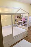 Дитяче Ліжко будиночок з натурального дерева, фото 5