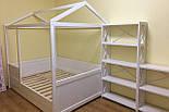 Дитяче Ліжко будиночок з натурального дерева, фото 2