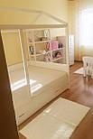 Дитяче Ліжко будиночок з натурального дерева, фото 6