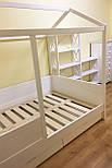 Дитяче Ліжко будиночок з натурального дерева, фото 7