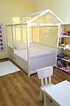 Дитяче Ліжко будиночок з натурального дерева, фото 8