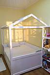 Дитяче Ліжко будиночок з натурального дерева, фото 9