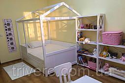 Детская Кровать домик из натурального дерева