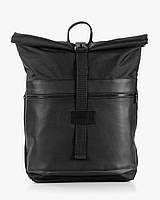 """Прочный мужской рюкзак """"ROLLTOP"""" черный, на 21л, сумка для ноутбука, повседневный, спортивный, для путешествия"""