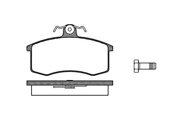 Тормозные колодки передние Lada 2109-10 Ferodo