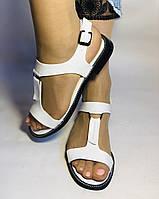 Модні білі жіночі босоніжки 37.40. Туреччина Магазин Vellena, фото 2