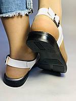 Модні білі жіночі босоніжки 37.40. Туреччина Магазин Vellena, фото 4