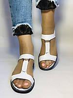Модні білі жіночі босоніжки 37.40. Туреччина Магазин Vellena, фото 6