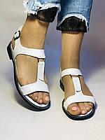 Модні білі жіночі босоніжки 37.40. Туреччина Магазин Vellena, фото 7