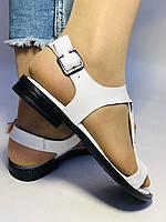 Модні білі жіночі босоніжки 37.40. Туреччина Магазин Vellena, фото 8
