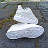 Кроссовки ALEXANDER MCQUEEN |копия| белые размеры 36-41 на толстой подошве высокие эко кожаные перфорация, фото 5