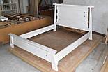 Ліжко двоспальне з масиву дерева, фото 8